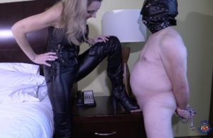 Crushing My Cock With Her Boot