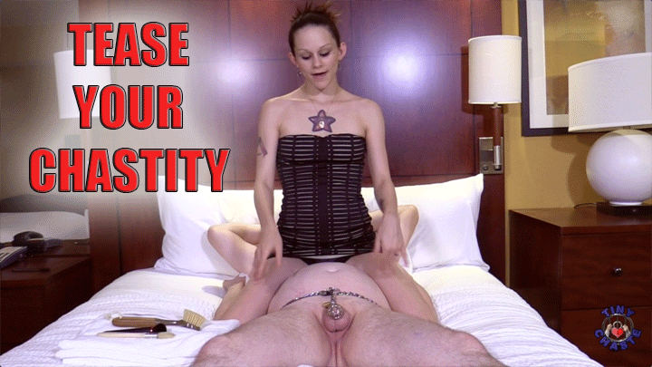 Chastity Caged Tease With Nyx Chaos